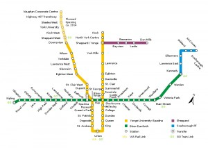 TTC Subway and RT map at wRanter.com